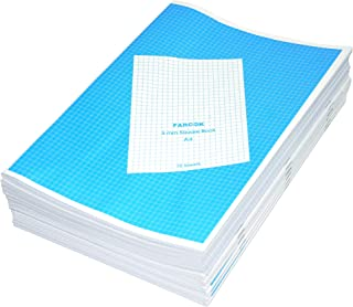 FIS Exercise Books 5 mm Square, 140 Pages, Pack of 12 Pieces, A4 Size - FSEBA45MM70