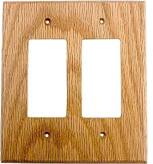 Sierra Lifestyles Traditional Switch Plate, 2 Rocker, Red Oak