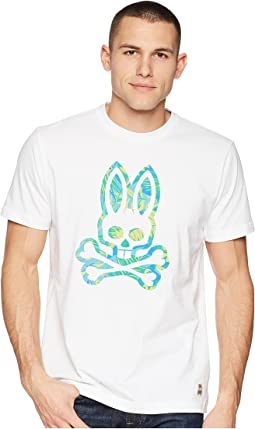Psycho Bunny Tropical Frond Printed T-Shirt