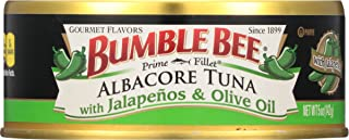 BUMBLE BEE Prime Fillet Solid White Albacore Tuna with Jalapeño & Olive Oil, 5 Ounce Can (Case of 12), Wild...