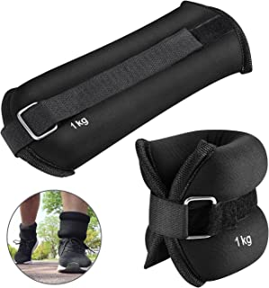 KUYOU Ankle Weights 1 Pair, Ankle Wrist Weights for Women Men Kids, 2.2lbs -6.6 lbs Sand Filling Leg Weights with Adjustable Strap for Running, Walking, Exercise, Resistance Training, Gym