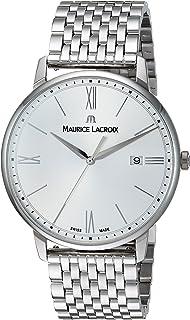 Maurice Lacroix - Reloj analógico para Hombres de con Correa en Acero Inoxidable EL1118-SS002-110-2