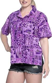 Women's Relaxed Summer Casual Hawaiian Blouse Shirt Button Down Printed