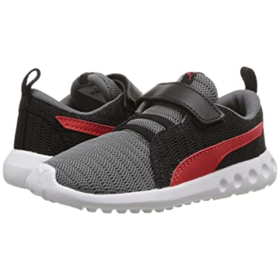 Puma Kids Carson 2 V (Toddler) (Quiet Shade/Flame Scarlet) Boys Shoes