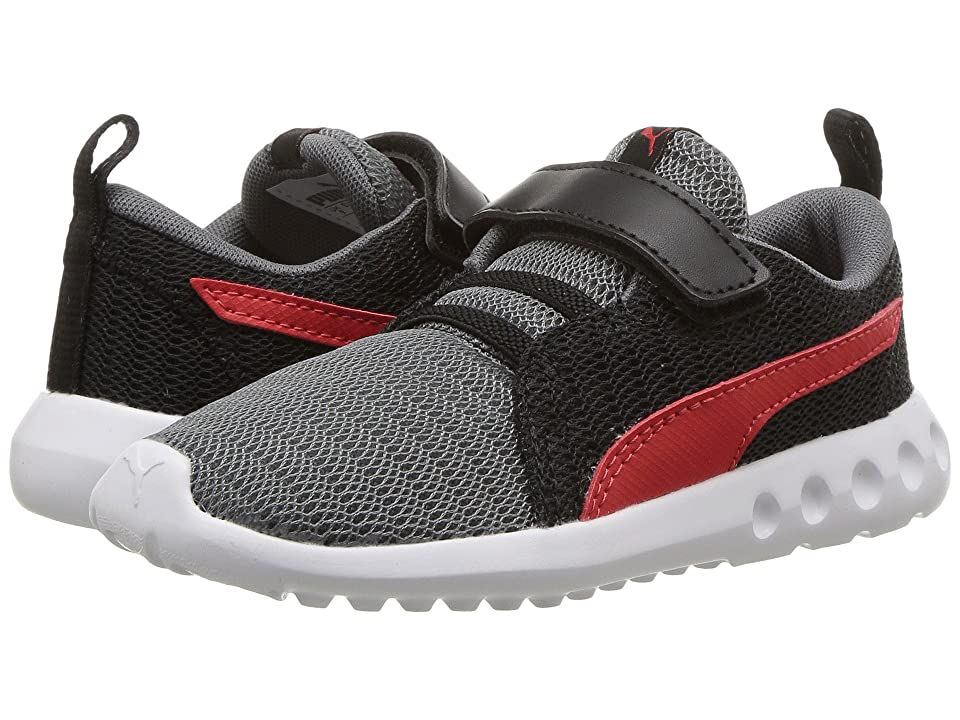 Puma Kids Carson 2 V (Toddler) (Quiet Shade/Flame Scarlet) Boys Shoes