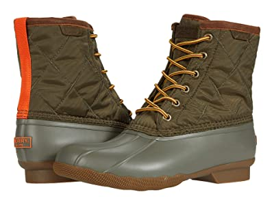 Sperry Saltwater Duck Nylon Boot (Olive) Shoes