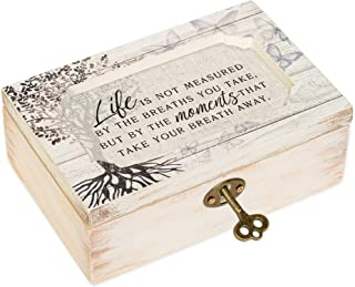 Life Moments White Wash Butterfly Tree Petite Decoupage Music Box Plays What a Wonderful World