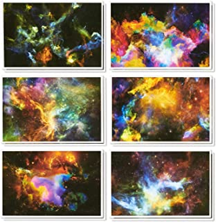 48 Pack All Occasion Greeting Cards - Assorted Blank Note Cards Bulk Box Set Cosmic Designs - Envelopes Included - 4 x 6 inches