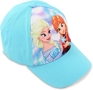 9a5dcd44c84 Disney Little Girls Frozen Elsa and Anna Cotton Baseball Cap