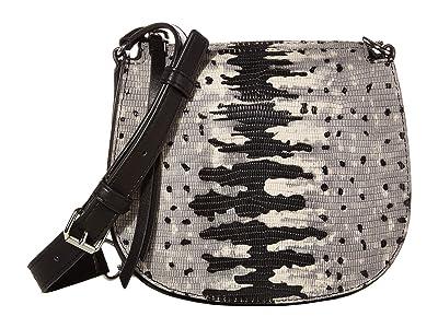 AllSaints Ely Small Round Crossbody (Grey Multi) Handbags