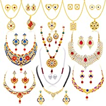 Sukkhi Exclusive Gold Plated Wedding Jewellery Combo for Women (294CB2600)