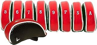 Callaway Unisex-Adult Callaway Golf Premium Iron Head Covers C10733, Red Black, Large