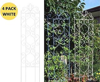 Takasho Plant Trellis Metal 1800 mm White (Pack of 4 Units)