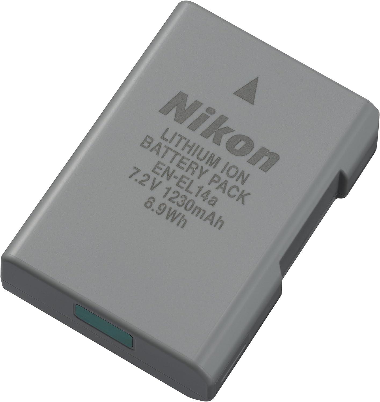 EN-EL14a Lithium-Ionen-Rechargeable Battery Cargador para C/ámara Digital Nikon MH-24