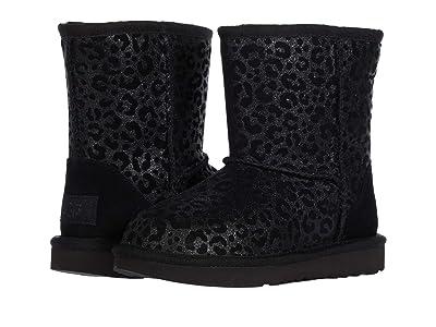 UGG Kids Classic II Glitter Leopard (Toddler/Little Kid) (Black) Girls Shoes