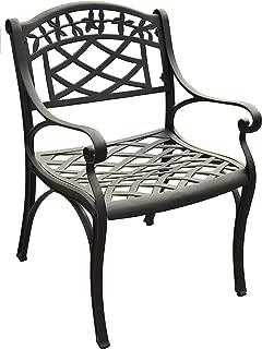 Crosley Furniture CO6101-BK Sedona Solid-Cast Aluminum Outdoor Arm Chair, Black