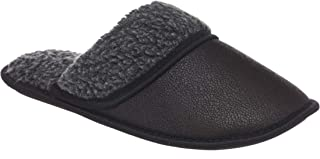 26 Accessories Men's Memory Foam Slippers with Sherpa Fleece Lining Microsuede Scuff