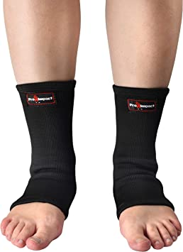 Pro Impact Muay Thai MMA Ankle Support Wraps - Breathable Ankle Guard Protection for Combat Sports - Ideal Gym & Workout Use – 1 Pair (Large)