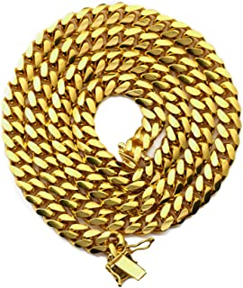 10K Yellow Gold 6mm Solid Miami Cuban Link Chain Necklace w/Box Lock, Available in 18