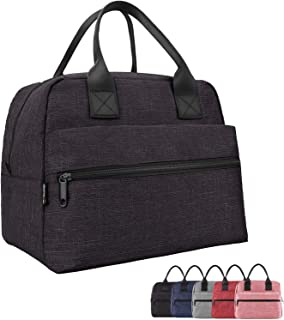 Lunch Bags For Women&Men Insulated Lunch Box For Lunch Cooler Tote(Black)