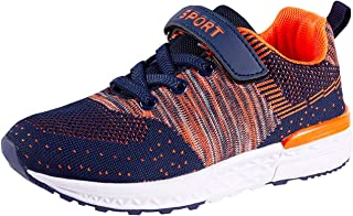 Casbeam Boys Girls Tennis Fashion Sneakers for Sports and Running Walking Shoes