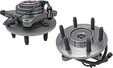 Bodeman - Pair 2 Front Wheel Hub and Bearing Assembly for 2004-2005 Ford F-150 4WD, 6 STUD Built Before 11/29/04