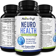 Mind Enhancing Supplement - Improve Memory Boost Brain Power Enhance Mental Clarity - Pills with Best Top Natural Vitamins for Better Cognitive Function Concentration Focus for Men and Women