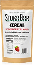 New! Stoka Bar Cereal -Strawberry Almond   All Natural- Low Carb Cereal  4g Net Carbs   9g Protein   Keto Friendly   All N...