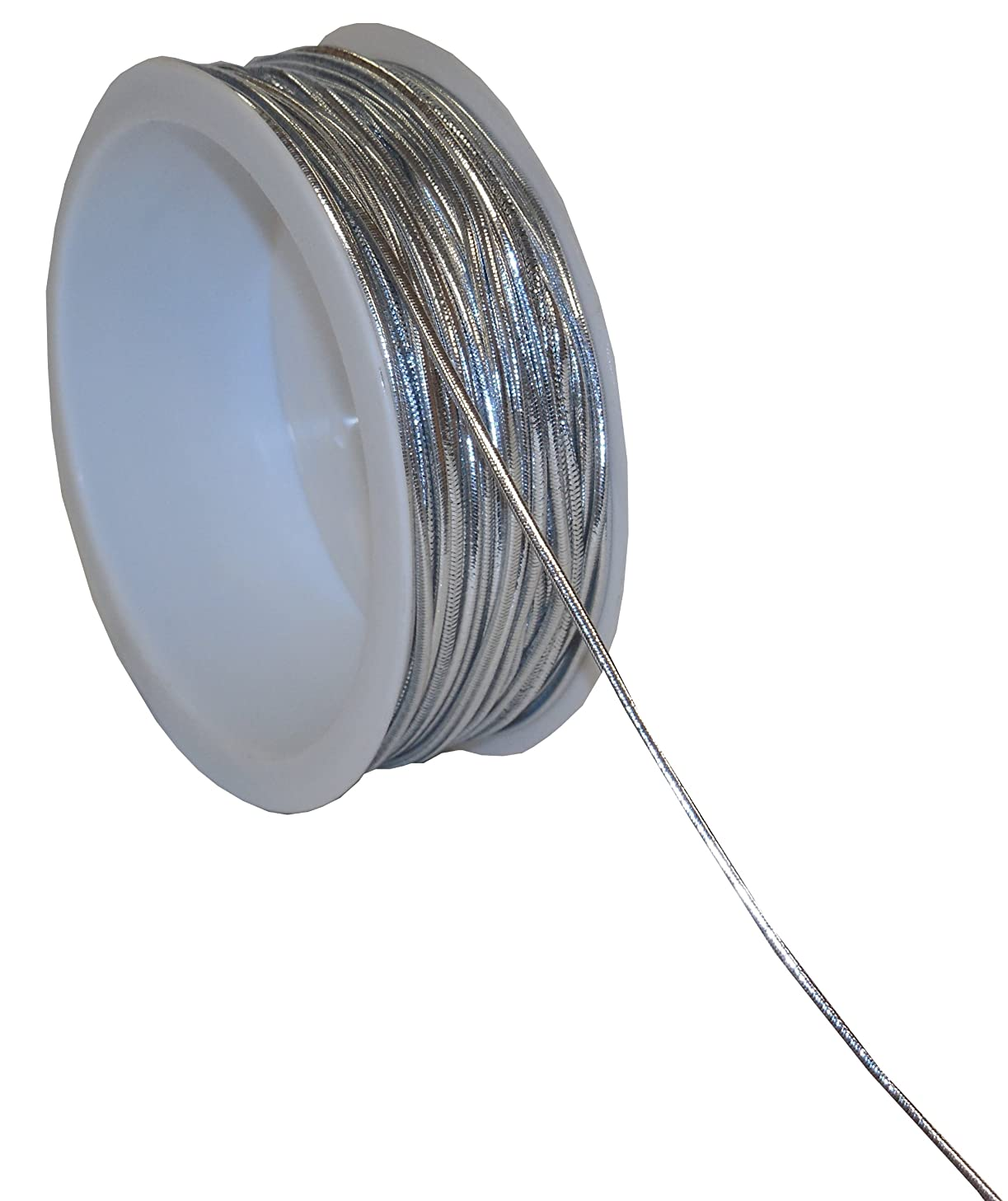 The Gift Wrap Company 25-Foot Elastic Tinsel Cord, Silver (16076-02)