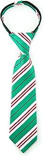 Littlest Prince Couture Emerald & Peppermint Stripe Infant Zipper Tie 9-24 Months