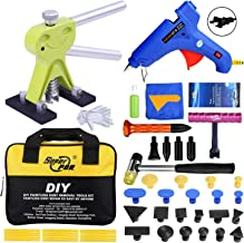 Fly5D Newest 51Pcs DIY Auto Car Truck Dent Repair Kit Paintless Dent Remover Pops a Dent & Ding Car Puller PDR Set with Tool Bag