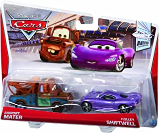 Disney Pixar Cars Mater with Shadow of Team Logo and Holly Diecast Vehicle, 2-Pack
