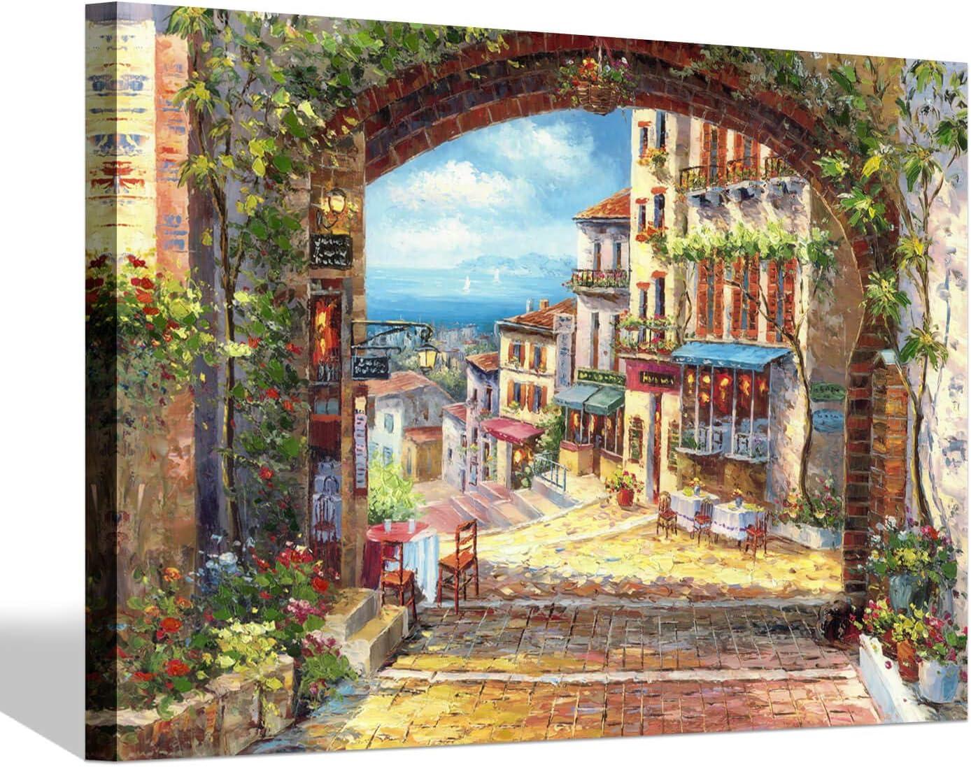 SD Ranking TOP17 SOFT DANCE Italian Classic Town Canvas - Art Village Pai Wall Coastal