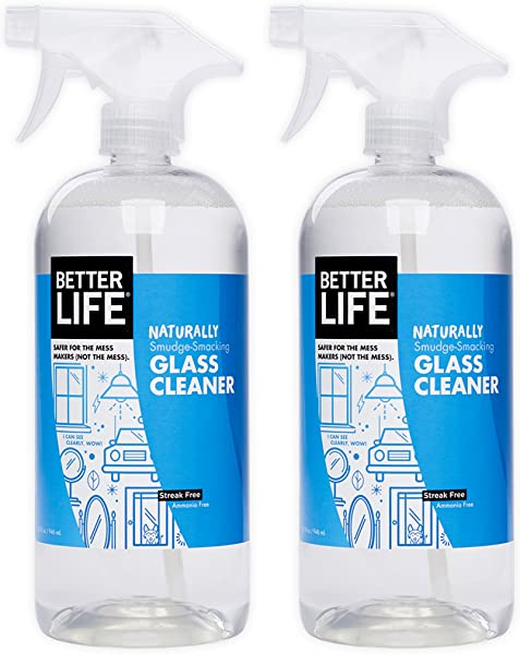 Better Life Natural Streak Free Glass Cleaner 32 Ounces Pack Of 2 24425