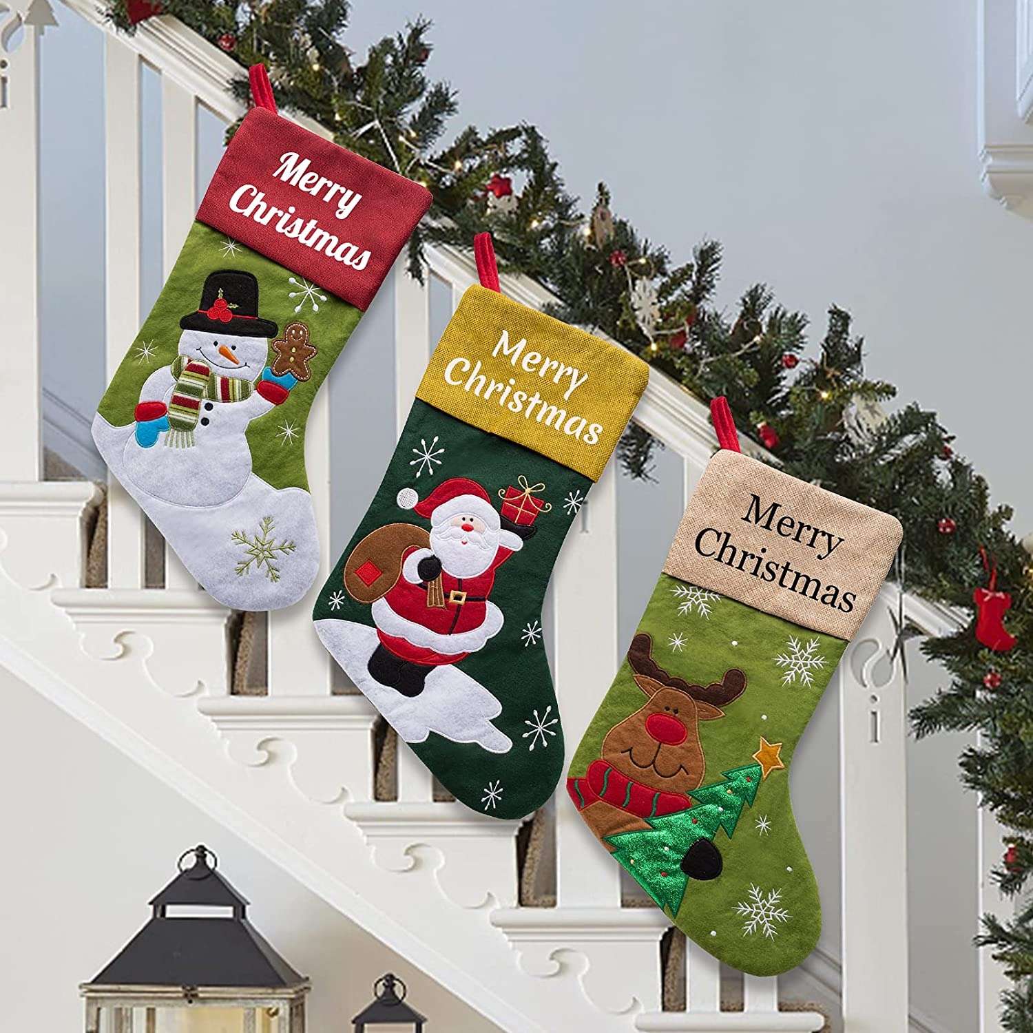 Qingxily Christmas Stockings Personalized Name Set 2 4 of 3 Ranking TOP10 Same day shipping 5 1
