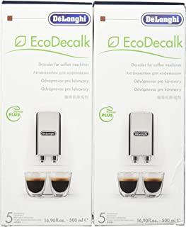 DeLonghi Eco Descaling Solution 5513291781 (Pack of 2), Set of 2, White
