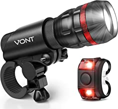 Vont 'Scope' Bike Light, Bicycle Light Installs in Seconds Without Tools, Powerful Bike Headlight Compatible with: Mountain, Kids, Street, Bikes, Front & Back Illumination