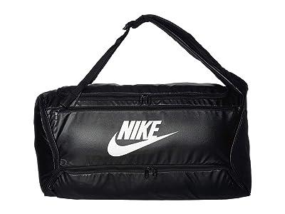 Nike Brasilia Backpack Duffel (Black/Black/White) Bags