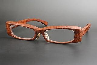 木製めがねフレーム BUB-909F(DOKUSOU TIKUHOU)【ルーツ】【鯖江産】【木のめがね】【ブビンガ】【銘木】【花梨】【限定】