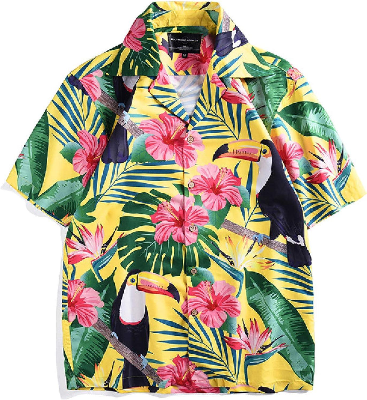 Nueva Camisa con Estampado de tucán de, Estilo Tropical, de ...