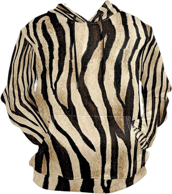 Men's Sport Hoodie Zebra Animal Print Big and Tall Hoodies for Men Women Oversized Hooded Sweatshirt Hip Hop Pullover Hoodie Midweight Hood for Boys Girls