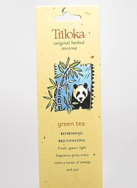 Triloka Incense Wndrse Green Tea 10 Count
