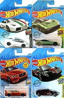Hot Wheels Project 8 Orange Edition Bundled with Jaguar XE SV / Lamborghin Reventon Roadster / Aston Martin Vulcan / Pagani Huayra Black Die-Cast Models 4 Items