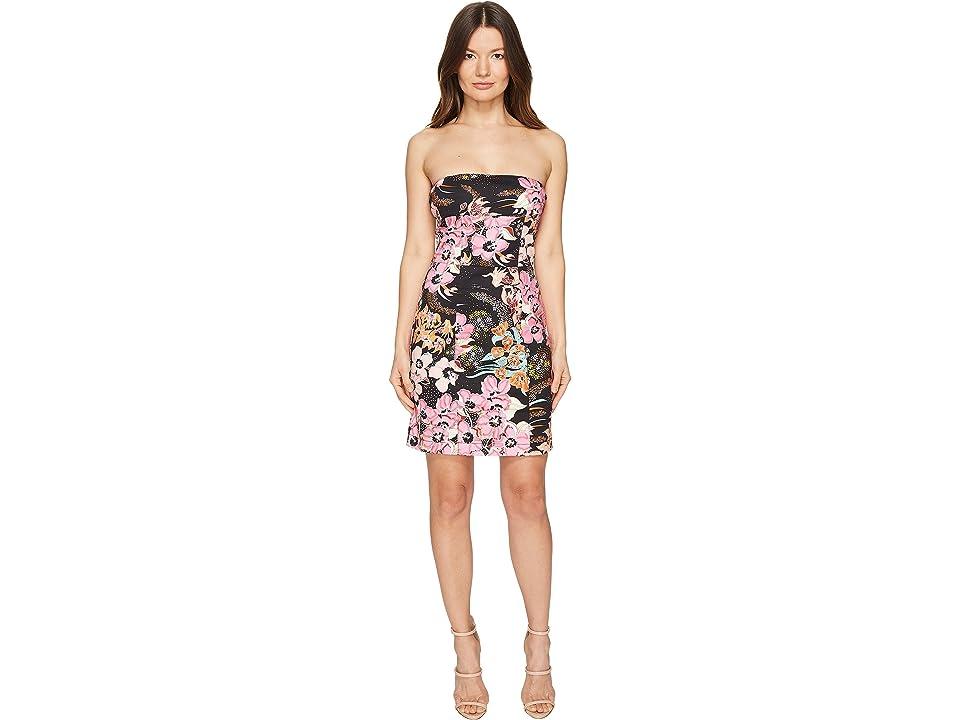 Just Cavalli Flower Power Print Cami Dress (Black Variant) Women