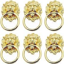 Gmjay Lion Head Cabinet Knob,Gouden lade Pull Meubelhandvat voor deur lade dressoir keuken kast, geel