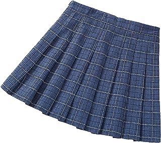 Pleated Skirts for Little Big Girls School Uniform Skirt Plaid Mini Skirt for Scooter Tennis Skater Cosplay Dance
