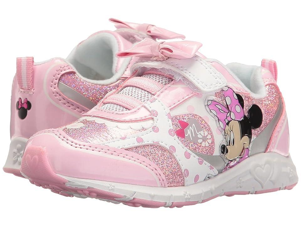 Josmo Kids Minnie Bow Sneaker (Toddler/Little Kid) (Pink/White) Girl