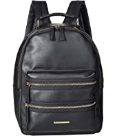 Double Front Zip Detailed Midi Backpack