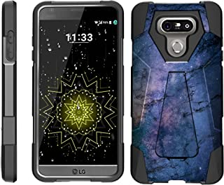 TurtleArmor | Compatible with LG G6 Case | LG G6+ Case | LG G6 Plus Case [Dynamic Shell] Hybrid Dual Layer Hard Shell Cover Kickstand Silicone Case - Marble Galaxy
