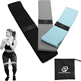 Centered Balance Booty Bands, Non Slip Resistance Bands, 3 Piece Set Loop Bands, Hip Glute Bands, Exercise Fitness Bands, ...